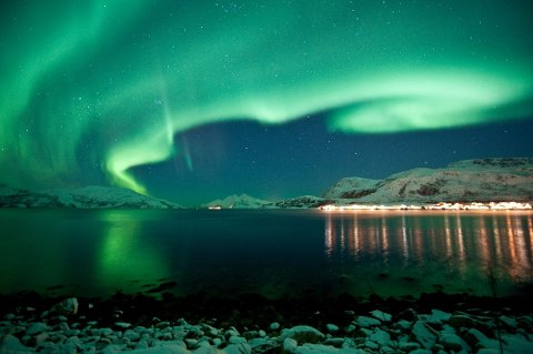 Nordlyset er populært blant utenlandske turister i Norge. Foto: Pressebilde/ANB
