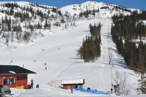 Glissent i bakken: Interessen for å bruke alpinbakken er heller liten, ifølge Olav H. Flugon. Bildet er fra påska i 2018. Foto: Unni buverud