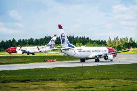 NORWEGIAN: Talsperson Lasse Sandaker-Nielsen sier til Reuters at Norwegian er forberedt på at noen fly kan bli satt på bakken. Foto: Norwegian/ANB