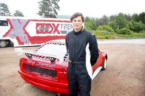 KJØRER FOR REVANSJ: Mathias Kveven Hamre håper på litt mer flaks i Skien enn på Momarken.FOTO: KRISTIAN HOLTAN