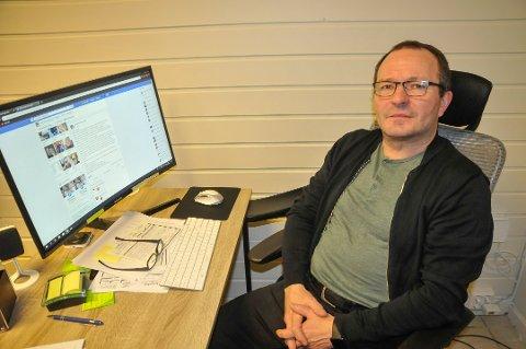 SA IFRA: Kurt Peder Rasmussen tok et oppgjør på Facebook med de som sprer grusomme rykter om folk. Foto:Tor Kjetil Kristoffersen