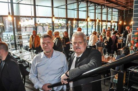 Robert Lind (t.v.) og Hans Aarak åpnet dørene til Becks på Union brygge i 2015. Foto: Vivi Skalleberg