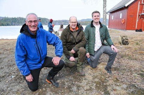 KLARE FOR TUR: Svein Åge Skilbred (til venstre) blir med som ledsager for femte gang, mens Jarand Listaul og Daniel Espeseth er to av deltakerne som skal være med på Rubens tur for første gang i sommer.