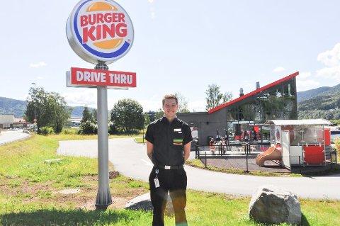 GOD START: Burger King på Notodden har hatt det travelt siden åpning. Foto: Vilde Kvernstuen Grimsrud