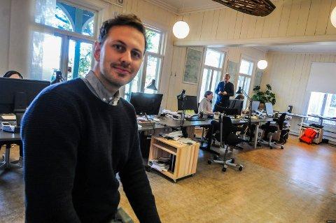 "NOMINERT: David Fjågesund er nominert med badstuen ""Soria Moria""."
