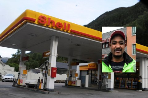 NY DRIVER: Mesin Fitsum er den nye driveren på Shell Tveito. Foto: Asbjørn Torgersen. (Lite foto: Kai Andersen)
