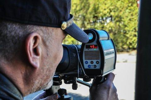 FARTSKONTROLL: Det var en julidag i sommer at en 47-åring ble tatt i en fartskontroll.