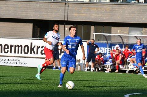 VIL VIDERE: Adrian Berntsen og NFK har et klart mål om å ta seg videre i cupen på søndag.