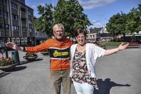 Fest: Helge Rauland i Notodden Sykleklubb og Merete Cloumann Kroken inviterer til sykkelfest og en trivelig ettermiddag i Notoden sentrum – med Tour of Norway – for kids.