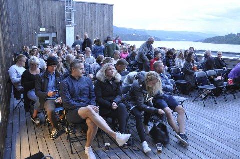 Suksess: Film på taket av Bok- og blueshuset ble en suksess.