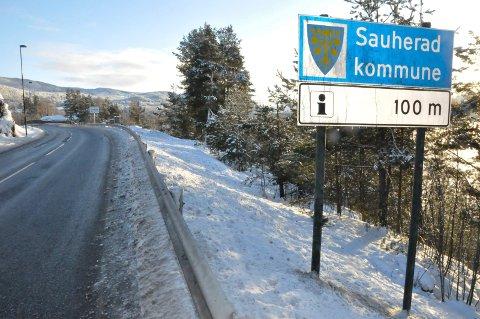 Sauherad kommune skilt på Hjuksebø