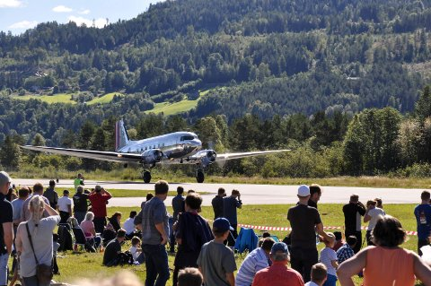 2016: Her et lite gjensyn fra Telemark Airshow på Notodden flyplass i 2016.