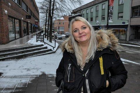 POLITI: Åslaug Sem-Jacobsen tok opp situasjonen i politi-Norge på Stortinget i dag. Her fra Storgata på Notodden i 2016
