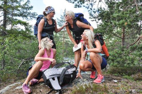 God stemning: Når June Rønningen, Torill B. Landsverk, Heidi Bjørndalen og Anne Lise Landsverk er på tur sammen er det god stemning.