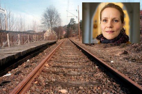 MÅ VEDLIKEHOLDES: Riksantikvar Hanna Geiran (innfelt) mener Bane Nor må vedlikeholde Tinnosbanen. Staten kan ikke stå ansvarlig for ikke å gjøre noe, mener Riksantikvaren i en uttalelse.