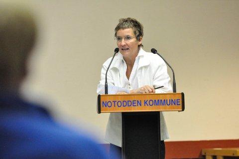 TREKKER SEG: Hanne Thürmer trekker seg som ordførerkandidat for Notodden Senterparti. - Personlige årsaker, sier hun. (Arkivfoto)