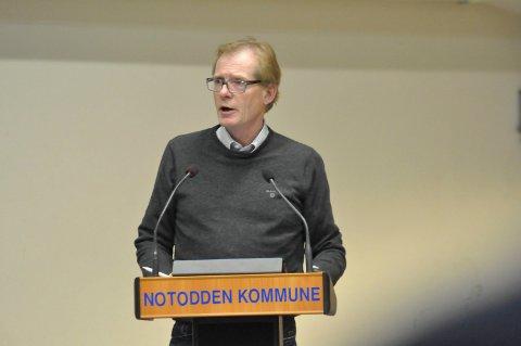 KLAR TALE: Torgeir Fossli (V) mener det er galt å bruke 150 000 fra kultur til å betale regninga for å være med på Telemarksveka.  Penger som kommer til kultur, skal brukes til kultur!