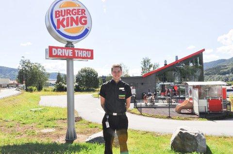 GOD START: Burger King på Notodden har hatt det travelt siden åpning.