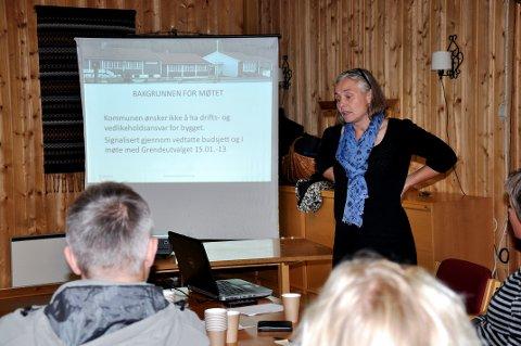 FOLKEMØTER: Grendeutvalget i Gransherad har flere ganger arrangert folkemøter om blant annet kommunebudsjettet, og som her i 2015 om herredshuset Grandisgard. Den gang var Line Berget Hedegart leder av grendeutvalget.