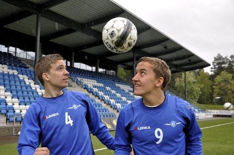 HAR EN PLAN: Kaptein Henrik Gustavsen (t.v.) og Martin Brekke har en plan i kveld. Trønderne skal sendes hjem uten poeng.