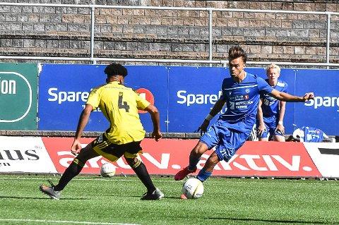 STRAFFE: Kjetil Tøsse mener han ble snytt for straffespark på stillingen 0-0.