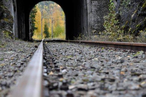 IKKE PÅ BANEN: Tinnosbanen er en viktig del av verdensarven Rjukan-Notodden Industriarv.