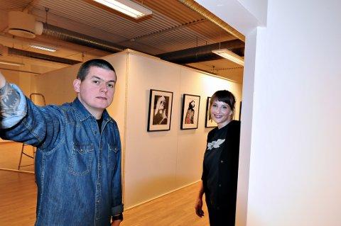 Anders Røkkum sammen med prosjektleder Tora Øidvin Greve.