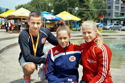 Trene Gabbe Kantor fikk se Silje Kippernes (i midten) og Signe Marie Fidje Store vinne gull i NM lørdag.