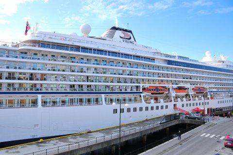 Kristiansund får 19 cruisebåtanløp i 2018. Bildet er fra sommeren 2017.