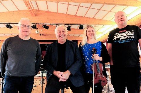 AVLYST OG UTSATT: Asgeir Gjøstøl (fra venstre), Egil Holberg, Ann Helen Stamnsve og Tonny Iversen måtte avlyse konserten «Sjøl oss» i Smølahallen lørdag.