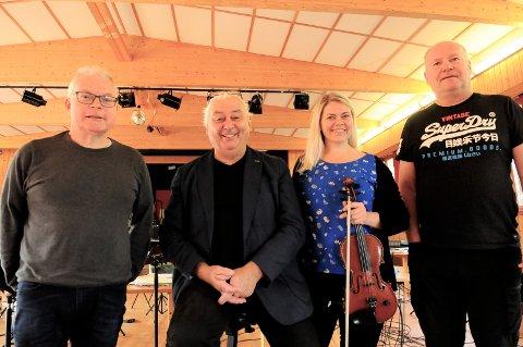Lørdag skulle det egentlig bli smølabonanhelg i Kristiansund. Den ble avlyst, men konsert blir det likevel, med blant andre Asgeir Gjøstøl (fra venstre), Egil Holberg, Ann Helen Stamnsve og Tonny Iversen.