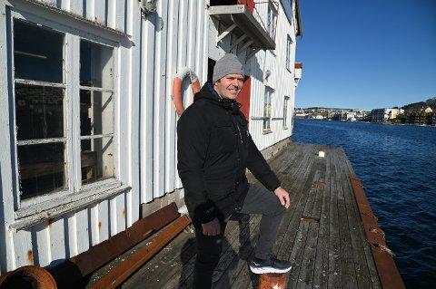 Kombinasjonen av bolig og næringsformål vil være ideell for videreutvikling av brygga, mener Bjørn Arild Nerland.