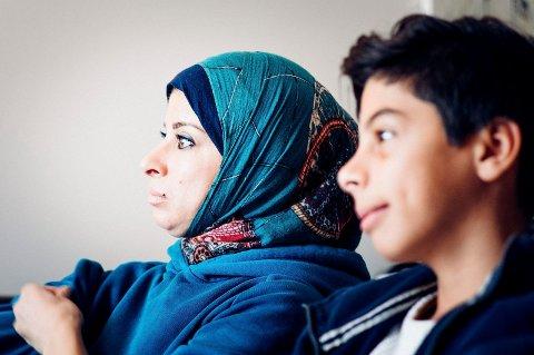 Rjaa Banchi og sønnen Yaman fra Syria