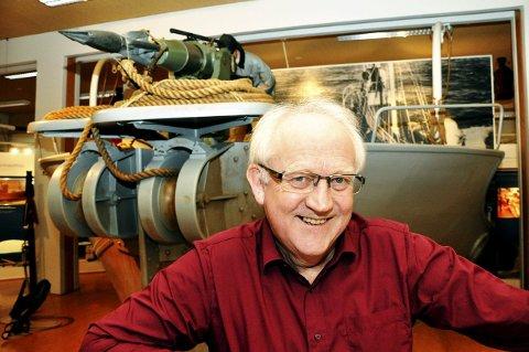 SANDEFJORD: Har Europas eneste spesialmuseum for hval og hvalfangst. Jan Erik Ringstad er konservator.