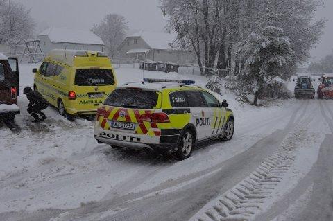 Ulykken skedde i krysset like ved Statoil.