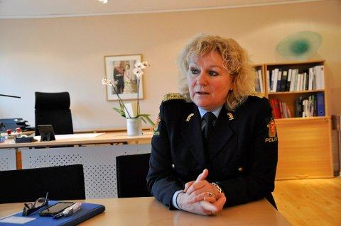 POLITISTATISTIKK: Statistikken over tallet på anmeldelser i Vestfold er lagt fram og Politimester Christine Fossen er tilfreds med innsatsen for kriminalitetsforkjempelse. (Arkivfoto)