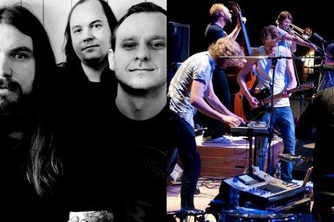KAN FÅ PRIS: Kvelertak (til venstre) og Jaga Jazzist kan få Spellemannpris lørdag 28. januar.
