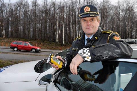 PÅ VEIEN: Andreas Rødø er distriktssjef for UP.