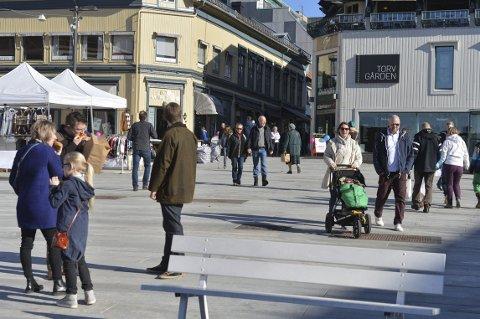 TØNSBERG: Byen skal ha et sentrum der det er trygt og hyggelig å være for alle. Foto: Harald Strømnæs