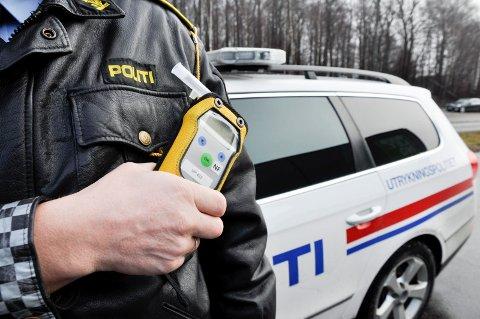 I LANDSTOPPEN: Sør-Øst Politidistrikt er blant de som tar aller flest i promillekjøring på norske veier.