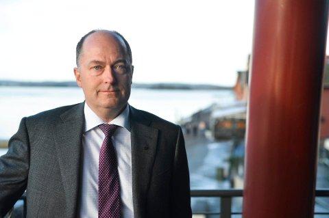 INNE: Morten Stordalen ser foreløpig ut til å bli eneste stortingsrepresentant fra Vestfold Frp i neste periode. Partiet har foreløpig ikke den fremgangen som trengs for å kunne fortsette med to mandater.