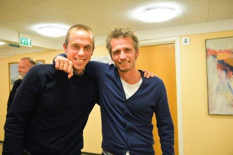 SATSER PÅ SCREENING: Rektor Fredrik Aukland (til venstre) og toppidrettssjef Geir Erlandsen har trua på sitt nye screeningprosjekt.
