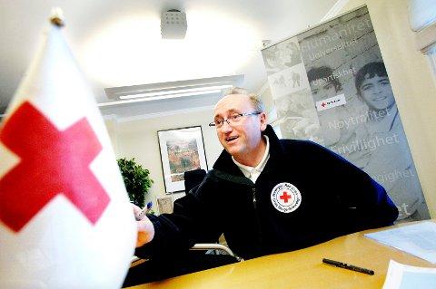 FÅ UTRYKNINGER: Daglig leder hos Vestfold Røde Kors, Bjørn Hjalmar Andersen, er fornøyd med årets påskeavvikling.