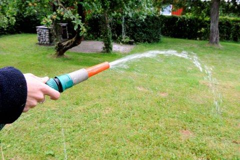 Vann, vannslange, vanning, vanningsrestriksjoner