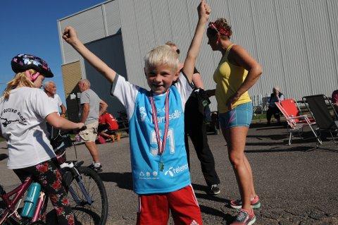 VINNER: Jakob Halvorsen var raskest av alle under det lengste løpet.