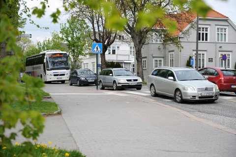 Det ble en kostbar kjøretur for flere i Stenmalveien i Tønsberg tirsdag formiddag. Her fra en tidligere anledning. Bilene på bildet har ingenting med kontrollen å gjøre.
