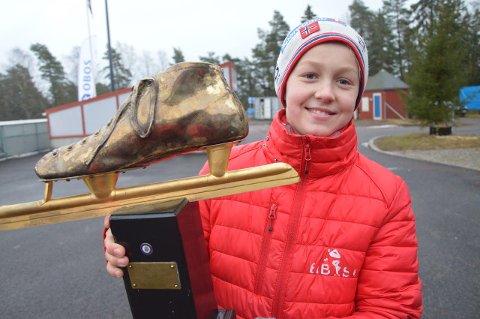 MAIER-SKØYTA: Mats Frimann Hansen vant gullskøyta til Fred Anton Maier.