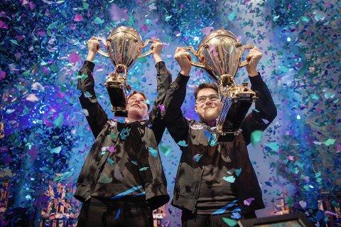 VANT VM: Emil August «Nyhrox» Pedersen og David «Aqua» Wang vant VM i spillet «Fortnite».