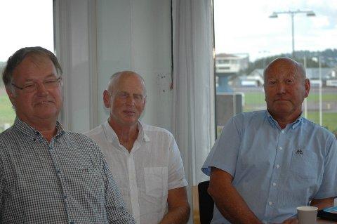 BLE KASTET: Rolf Roar Halvorsen (fra venstre), Ingar Aarøe og Tor-Erling Johnsen måtte tre ut av styret i Vestfold Travforbund.