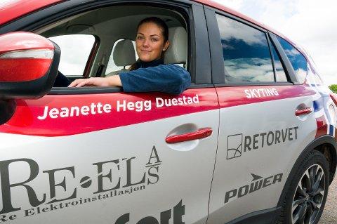 EM-FINALE: Jeanette Hegg Duestad fra Fon i Ramnes leverte sterk skyting på 10 meter luftrifle under EM i skyting.